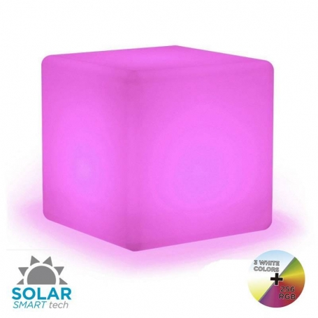 Cuby 32 verlichte kubus Solar Smarttech LED multicolor - Made by NewGarden